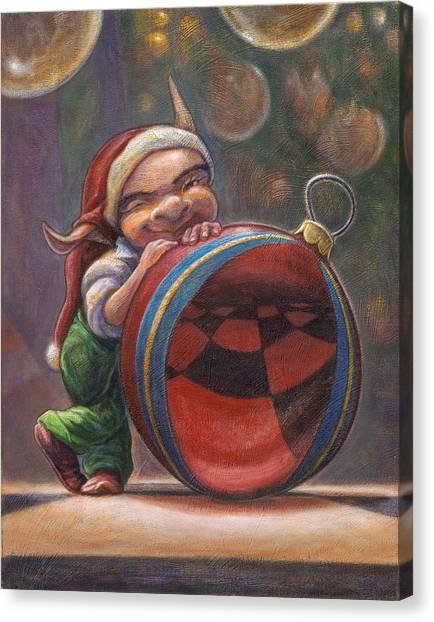 Christmas Reflections Canvas Print by Leonard Filgate