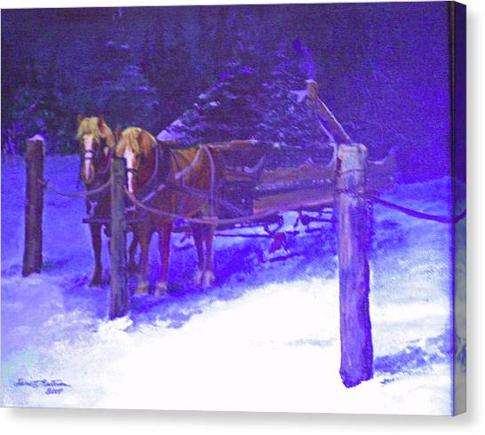Christmas Sleigh Ride - Anticipation Canvas Print