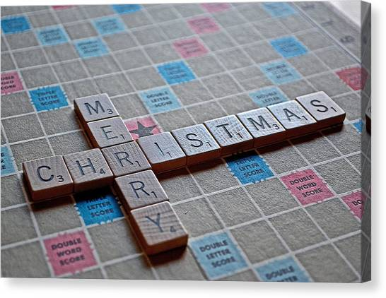 Christmas Spelled Out Canvas Print