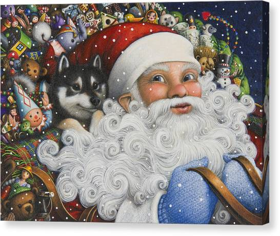 Christmas Stowaway Canvas Print