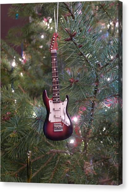 Christmas Stratocaster Canvas Print