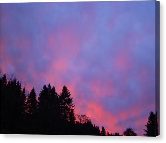 Christmas Sunrise Canvas Print by Lisa Rose Musselwhite