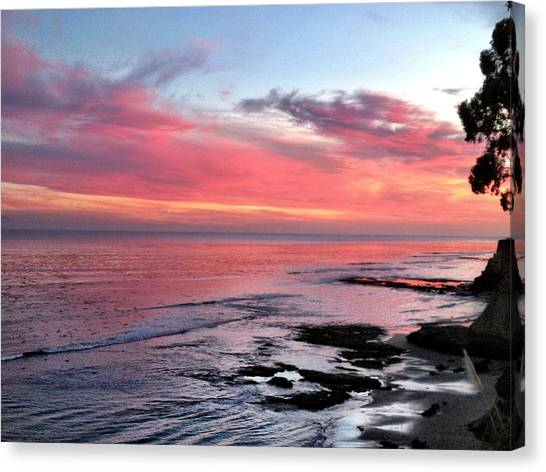 Christmas Sunset Canvas Print