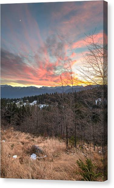 Christmas Sunset Canvas Print