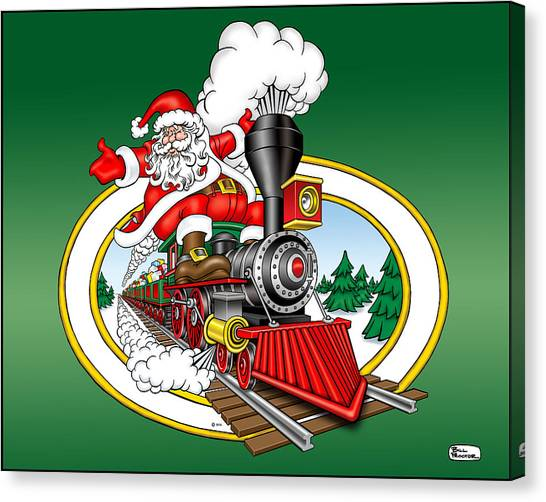 Canvas Print - Christmas Train by Bill Proctor