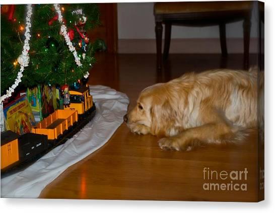 Christmas Train Canvas Print