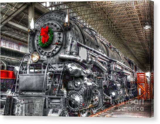 Christmas Train-the Holiday Station Canvas Print