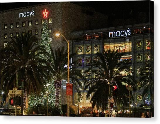 Christmas Tree At Union Square Canvas Print