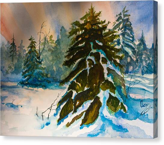 Christmas Tree Forest Canvas Print