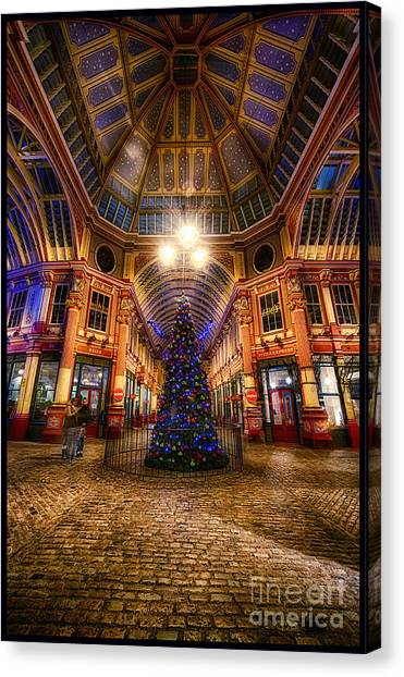 Christmas Tree Leadenhall London I Canvas Print