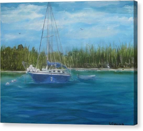 Christmas Tree Island Canvas Print