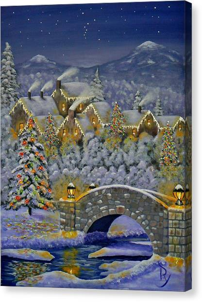 Christmas Village Canvas Print