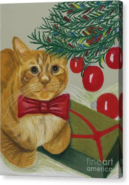Christmas With Rufus Canvas Print