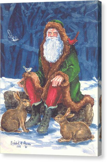 Christmas Woodland Series Canvas Print