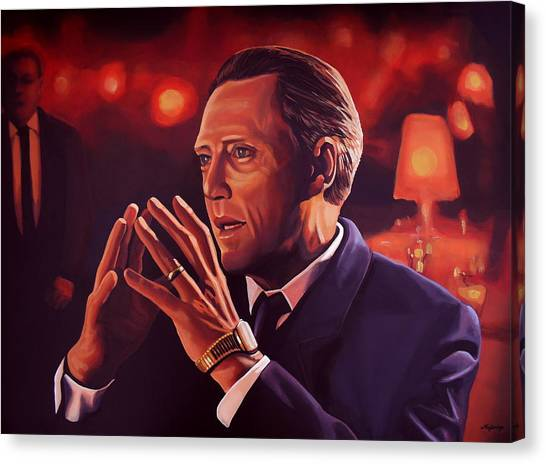 Pulp Fiction Canvas Print - Christopher Walken Painting by Paul Meijering