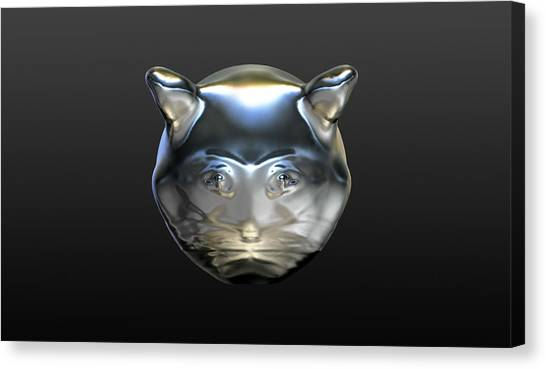 Chrome Cat Canvas Print