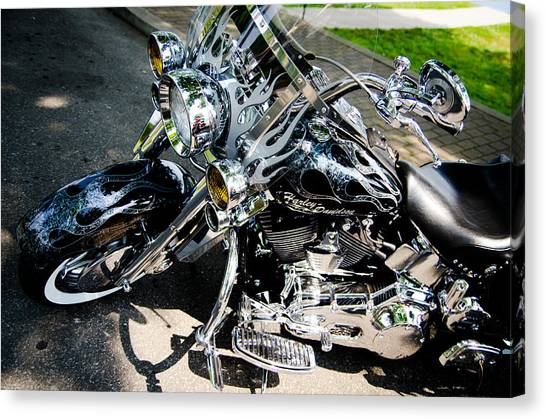 Scoot Canvas Print - Chromed by Off The Beaten Path Photography - Andrew Alexander