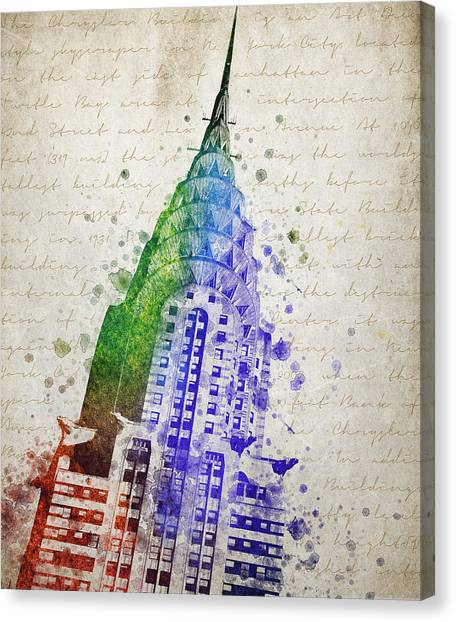 Chrysler Building Canvas Print - Chrysler Building by Aged Pixel