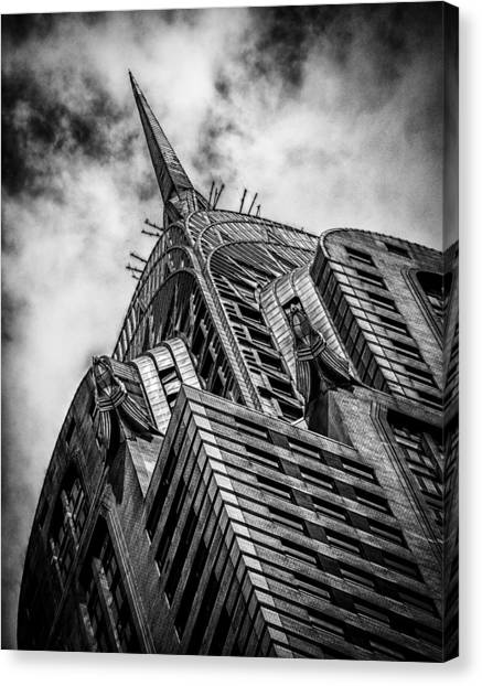 Chrysler Building - Black And White Canvas Print