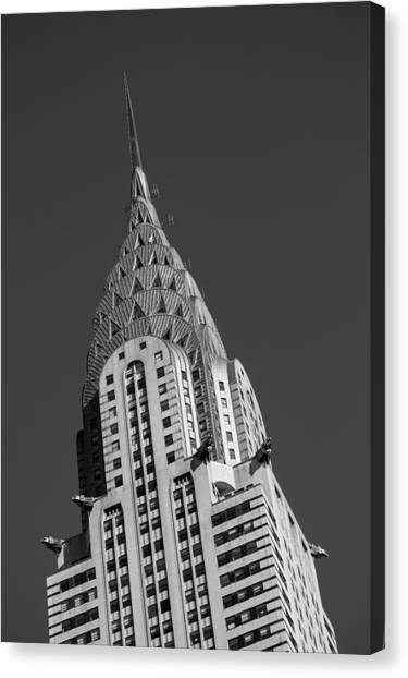 Chrysler Building Bw Canvas Print