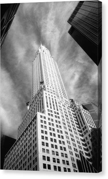 Chrysler Building Infrared Canvas Print