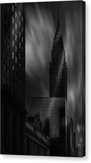 Chrysler Building Canvas Print - Chrysler Building by Martin Zalba