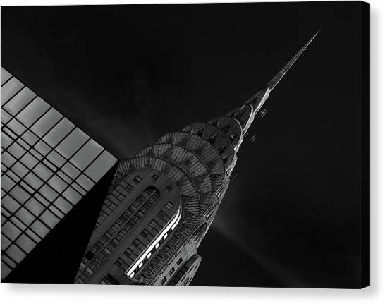 Chrysler Building Canvas Print - Chrysler by Hans-wolfgang Hawerkamp
