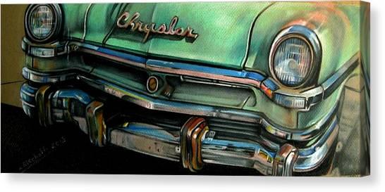 Chrysler Smile Canvas Print by Kathleen Bischoff