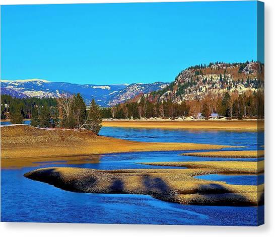 Chrystal Blue Columbia Canvas Print