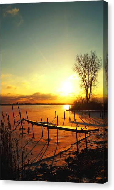 Chtistmas Dock 1 Canvas Print