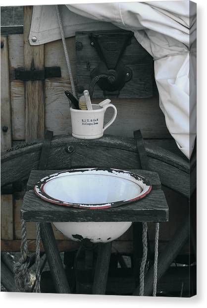 Chuckwagon Wash Basin Canvas Print