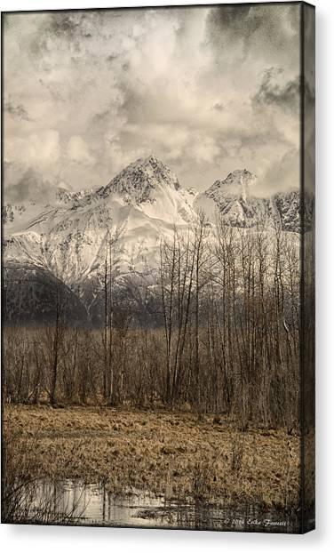 Chugach Mountains In Storm Canvas Print