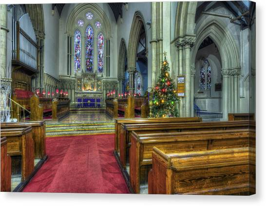 Church At Christmas V3 Canvas Print