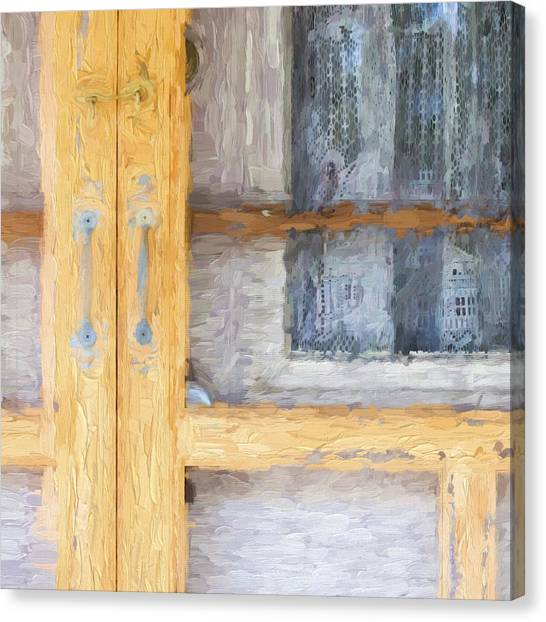 Marthas Vineyard Canvas Print - Church Camp House Detail Painterly Series 14 by Carol Leigh
