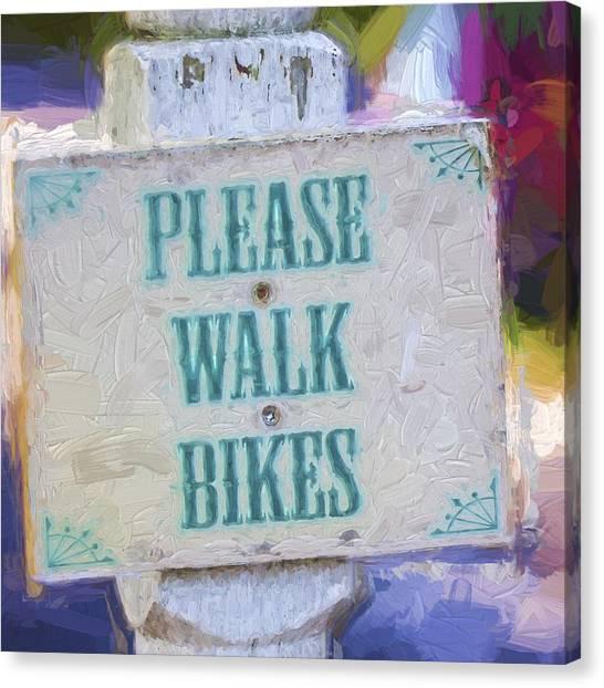 Walk Canvas Print - Church Camp House Detail Painterly Series 5 by Carol Leigh