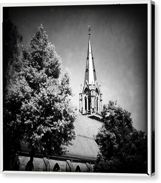 German Canvas Print - Church In Black And White by Matthias Hauser