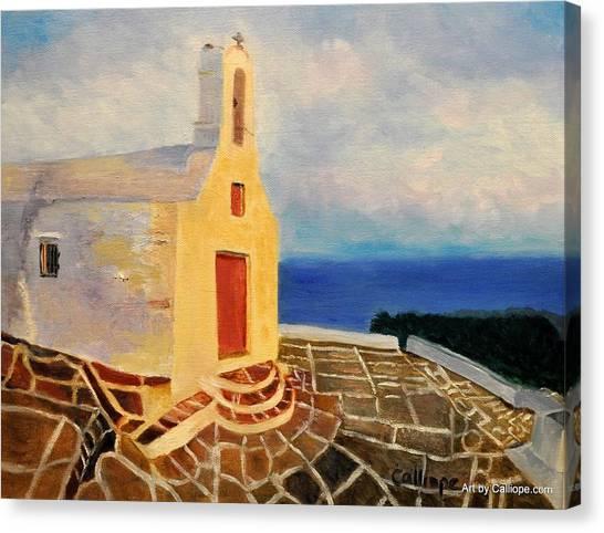Church In Ios Greece Canvas Print