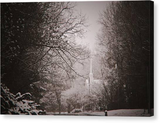 Church In The Snow  Canvas Print