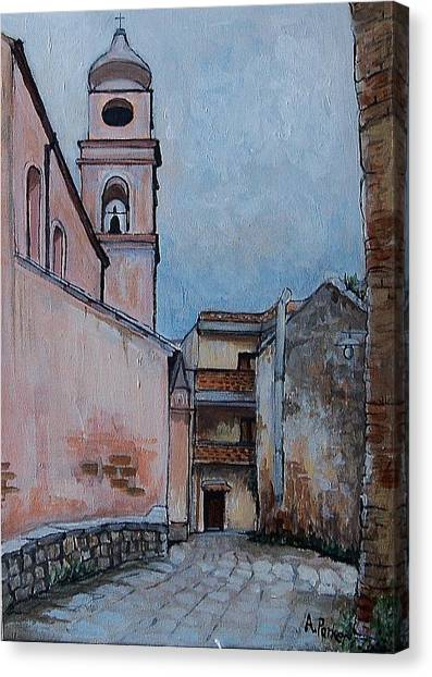 Church In Tursi Canvas Print by Anne Parker