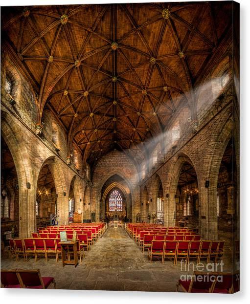 Vault Canvas Print - Church Light by Adrian Evans