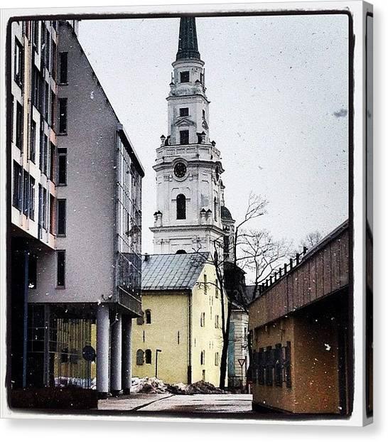 Orthodox Art Canvas Print - Church by Marina Boitmane
