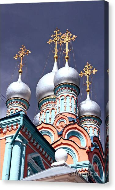 Church Of Neokessariyskogo Canvas Print