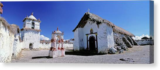 Andes Mountains Canvas Print - Church Of Parinacota, An Aymara Village by Martin Zwick