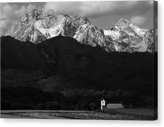 Church Of Saint Peter In Black And White Canvas Print