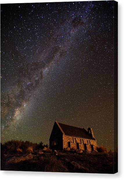 The Sky Canvas Print - Church Of The Good Shepherd by Yan Zhang