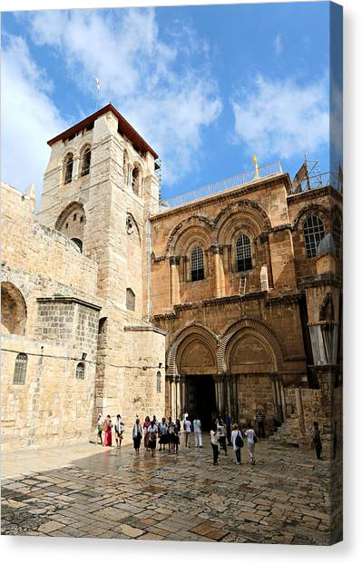 Orthodox Art Canvas Print - Church Of The Holy Sepulchre by Stephen Stookey