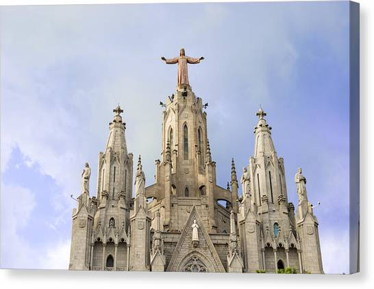 Church Of The Sacred Heart Tibidabo Barcelona  Canvas Print