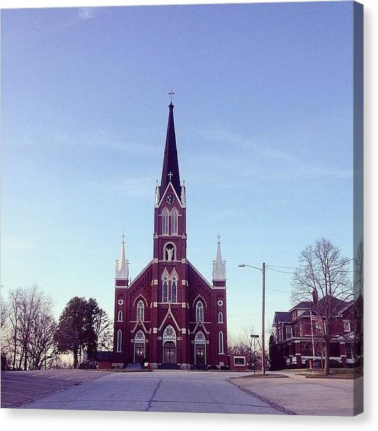 Iowa Canvas Print - Church On A Hill by Zach Steele