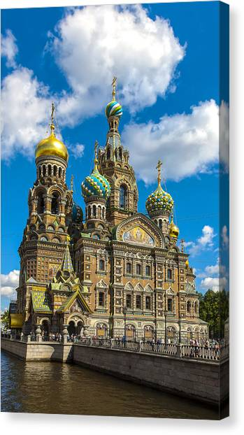 Church Of Spilled Blood Canvas Print