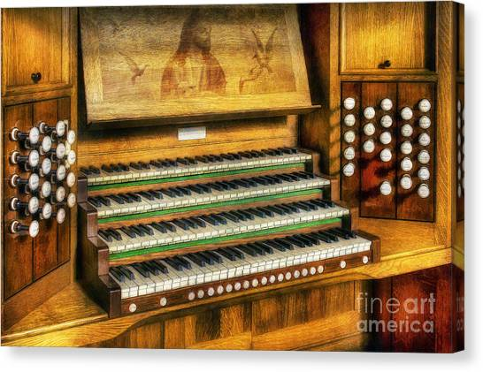 Church Organ Art Canvas Print